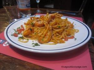 Pâtes aux fruits de mer - Pizzerie Ae Oche - Venise