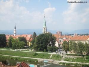 Vue depuis l'église Sainte Cécile - Celje