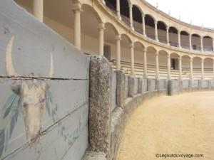 Barrière de pierre - Arène de Ronda