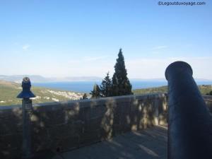 La vue panoramique de la Baie de Rabac depuis les fortifications