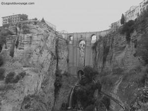 Pont Neuf de Ronda depuis l'Arc du Christ