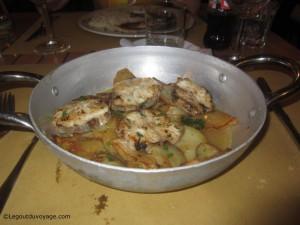 Plat de requin - Restaurant de poisson Ribja Kantina - Portorož