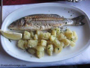 Plat de poisson - Restaurant Manta - Koper