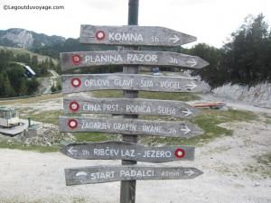 Sentiers de randonnée - Station Vogel Slovénie