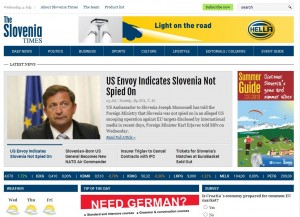 The Slovenia Times - Page web