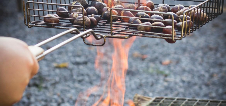châtaignes rôties feu de bois