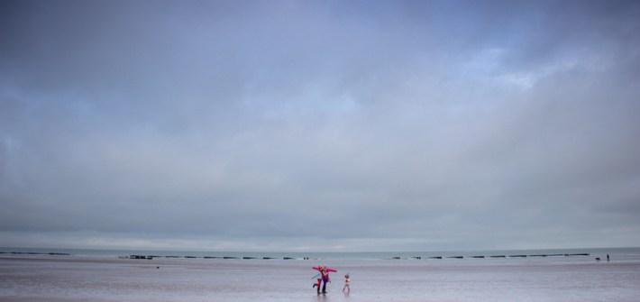 vue de la plage de Tardinghen en hiver