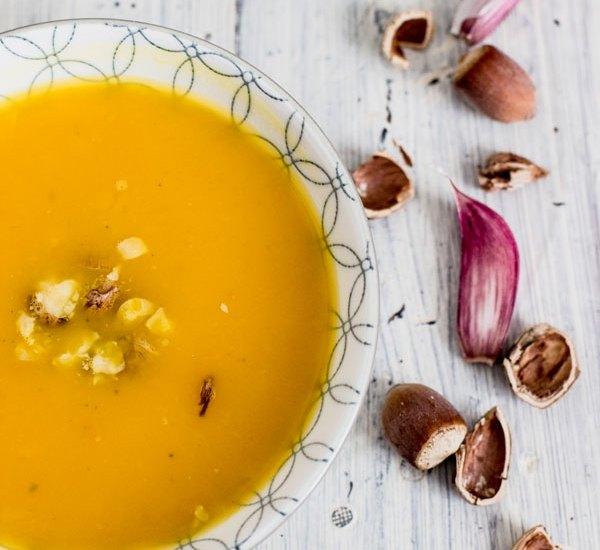 soupe potimarron noisettes