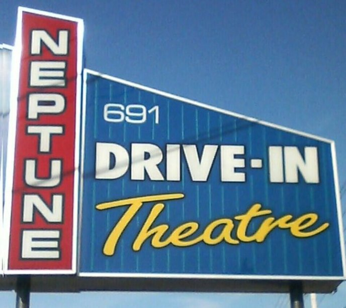 The Neptune Drive-In. Double-header movie nights are popular for locals and tourists alike!