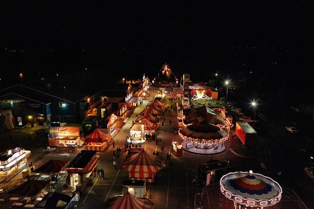 The fair during the Lobster Festival.
