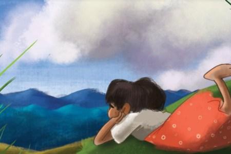 Illustration Histoire pour les petits : une baleine dans les nuages