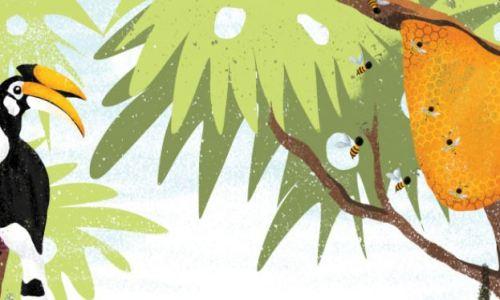 Illustration de La maison des animaux, une histoire sur les animaux dès les maternelle
