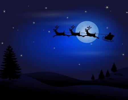 Illustration de l'histoire père Noël : la nuit avant Noël