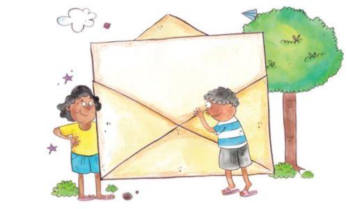 """Illustration de l'histoire sur l'amitié : """"La lettre magique"""""""