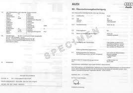 Zoom sur le Certificat de Conformité Audi
