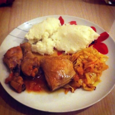 pap and chicken stew