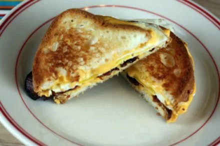 toasted bacon and cheese