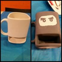 Before and after for my ninja mug.