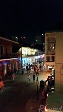 View of Bourbon Street from the balcony