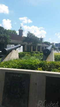 Canons in front of the statue