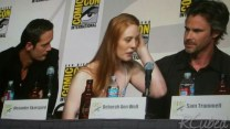 Alexander Skarsgard, Deborah Ann Woll, and Sam Trammell of True Blood