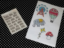 Stamp set and transparency shapes