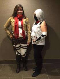 My friend and I dressed up and ready to head to the Convention Center.