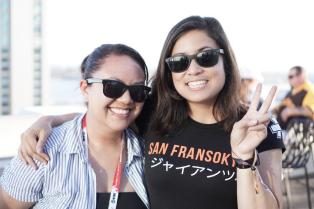 A friend was trying out their new camera lens and took some nice shots. Here I am with my friend/SDCC roommate Alexis.