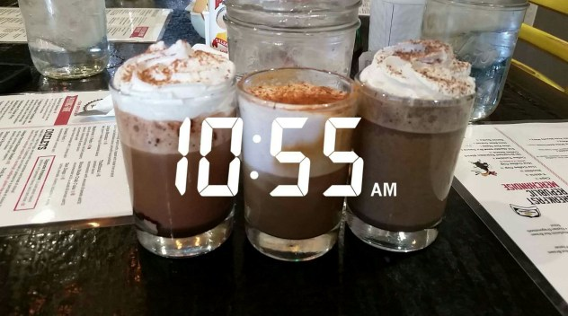 The Caffeine Overload with Mexican Mocha, Latte, and Mocha