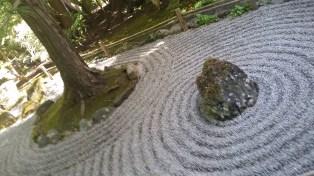 Zen garden within the garden.