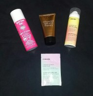 Hair products from Rock Your Hair, ghd, and Eva NYC