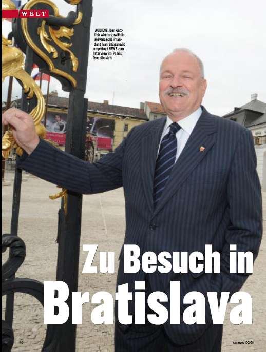 Präsident Ivan Gasparovic (Foto: Ricardo Herrgott)