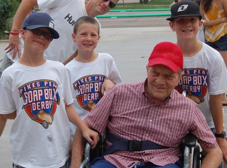 Lehi's Gary Hardman with his grandsons. Photo courtesy of Carolyn Hardman
