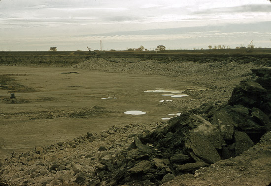 Looking across the quarry, 1956.