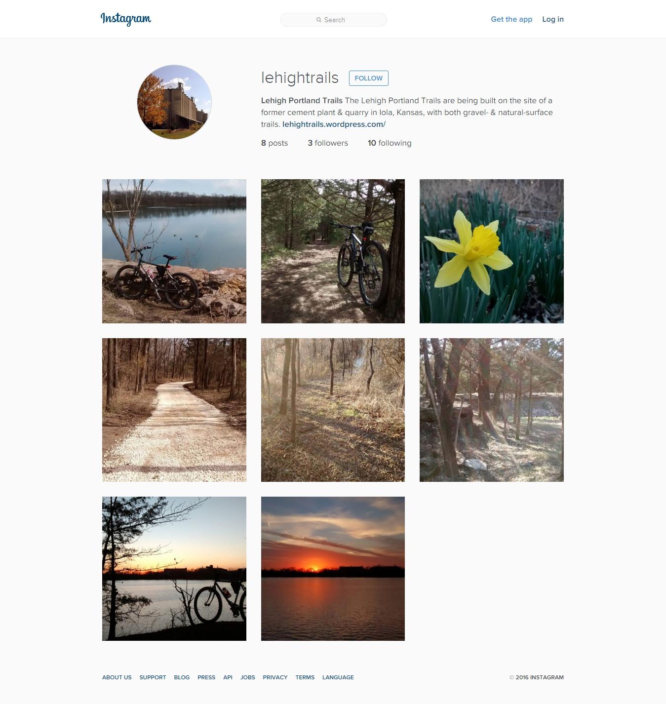 Follow Lehigh Portland Trails on Instagram