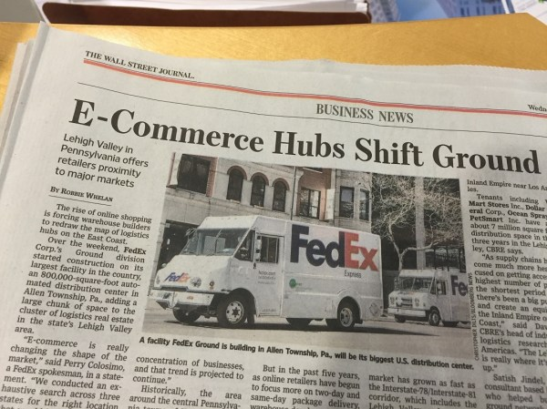 Lehigh Valley Featured in Wall Street Journal Article ...