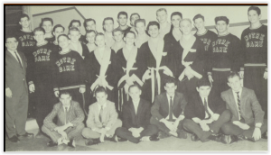 First Notre Dame H.S. Wrestling Squad (Photo Courtesy of Notre Dame H.S. Yearbook)