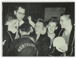 Coach Harry Wall and Northampton Squad Celebrate (Photo Courtesy of Northampton H.S. Yearbook)