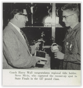 Coach Harry Wall and Steve Micio (Photo Courtesy of Northampton H.S. Yearbook)