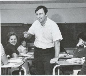 In Action During 25th Year Teaching at Dieruff (Photo Courtesy of Dieruff H.S. Yearbook)