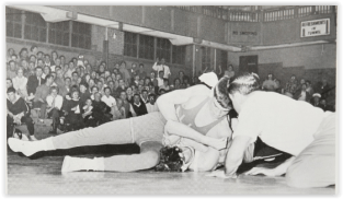 Stan Dziedic Dominated Rick Lentz, but the Huskies Triumphed (Photo Courtesy of Allen H.S. Yearbook)