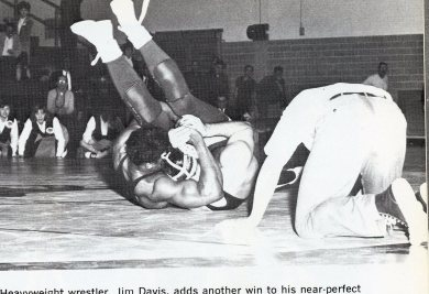 Muscular Dieruff Hwt. Jim Davis - Check Out the Bicep!(Photo Courtesy of Dieruff H.S. Yearbook)