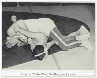Tom Konya Goes for the Fall (Photo Courtesy of Nazareth H.S. Yearbook)