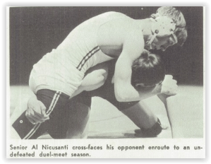 Al Nicusanti's Fall Ended the Huskies' Comeback Attempt (Photo Courtesy of Phillipsburg H.S. Yearbook)