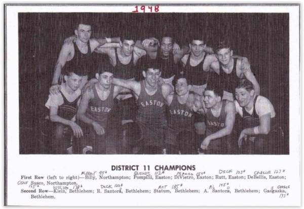 1948 District XI Wrestling Champs