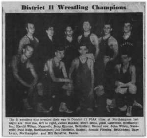 1953 District XI Wrestling Champs
