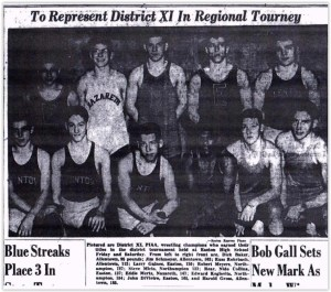 1955 District XI Wrestling Champs