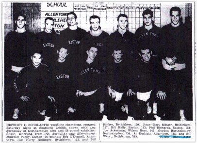 1958 District XI Wrestling Champs