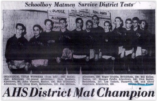 1959 District XI Wrestling Champs