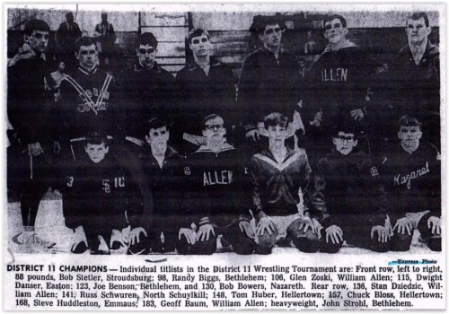1967 District XI Wrestling Champs